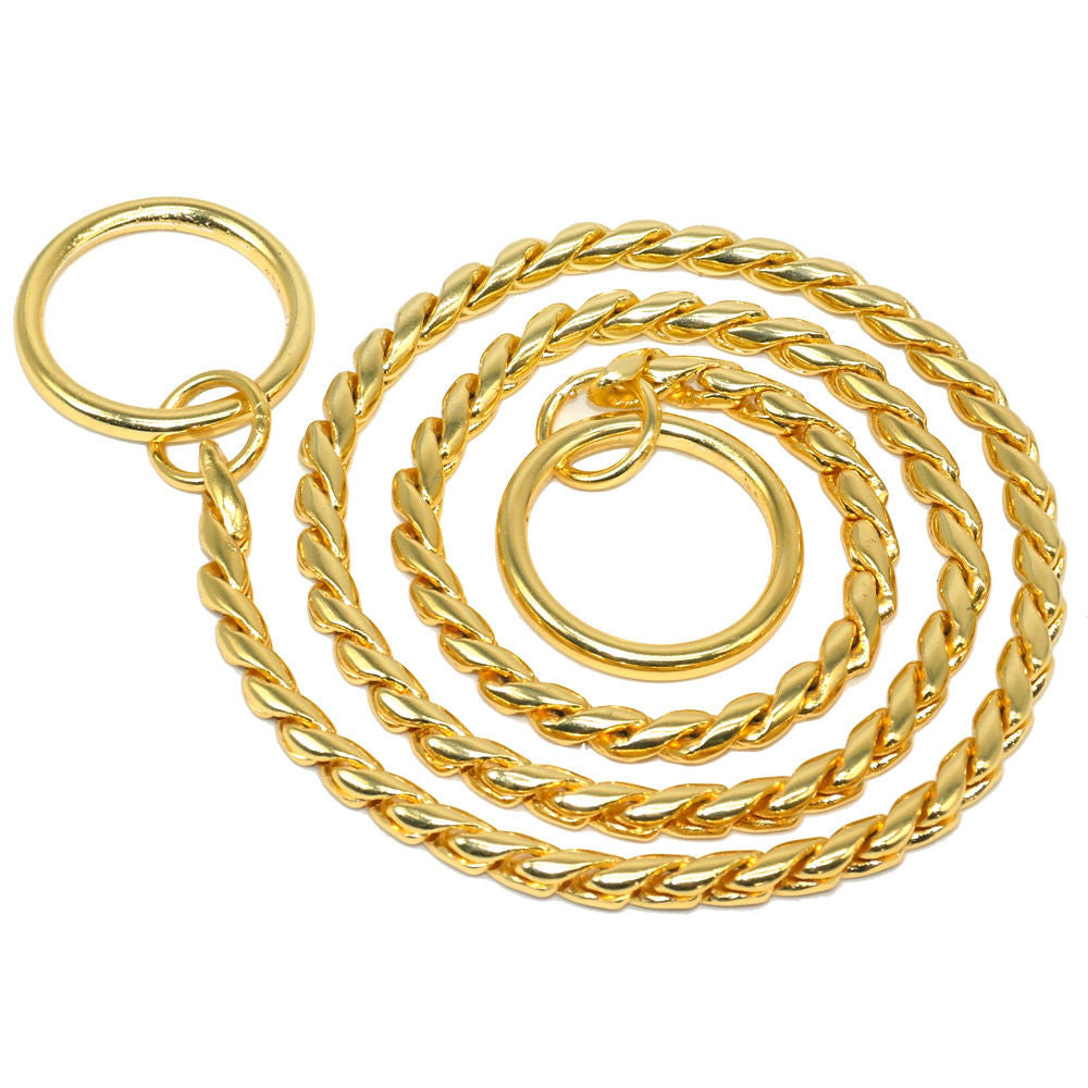 GOLD SNAKE CHOKE CHAIN COLLAR