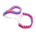 BLUE & PINK SHORT LEAD & COLLAR COMBO