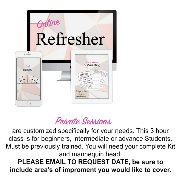 Online Refresher Training - Lash Primp