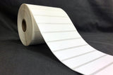 "White Paper Thermal Transfer Two Label Sets - 0.96875"" x 0.75"" and 3"" x 0.75"""