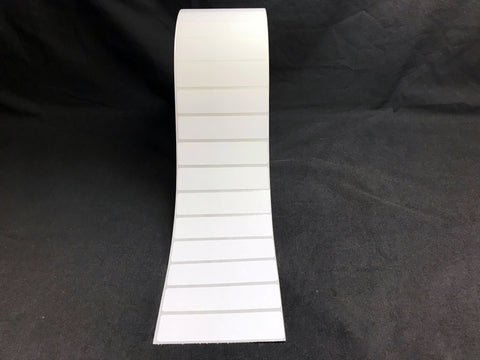 "Thermal Transfer Polyester Labels - Perforated - 3"" core - 3.75"" x 0.9375"""