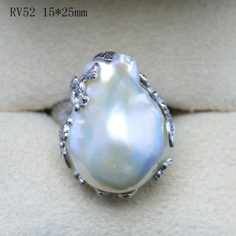 Natural special-shaped pearl ring