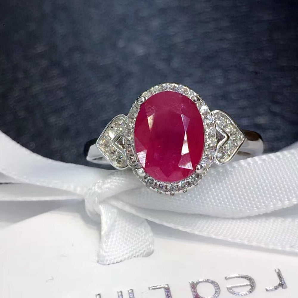 Red Stone Simple Elegant Woman Ring