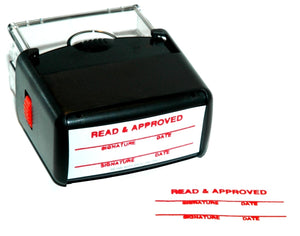 Stamp, READ & APPROVED, Large