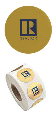"Large Roll REALTOR Logo ""R"" Stickers"