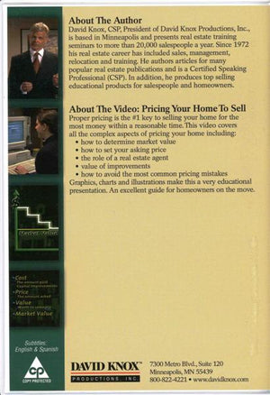 Pricing Your Home to Sell (DVD)
