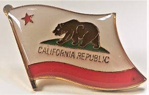 California Republic Flag Pin