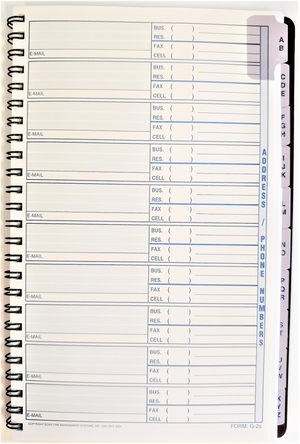 "Agenda Pros/BOSS, Address/Phone Numbers (G-2016), 5.5""x8.5"", Wirebound"