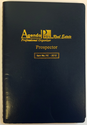 "Agenda Pros/BOSS, Prospector, Non-Dated Planner (RE-2012), 5.5""x8.5"", Wirebound"