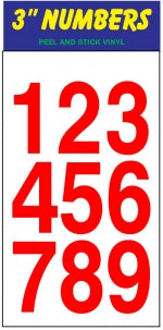 "Rider 3"" Sticker Set, Numbers"