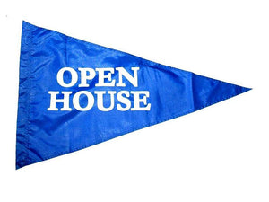 Pennant, White Lettering, OPEN HOUSE