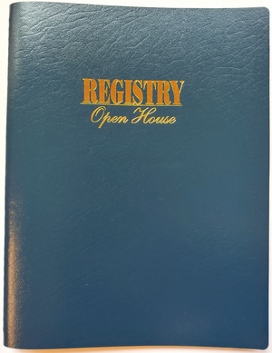 "Agenda Pros/BOSS, Open House Guest Registry (RE-8000), 8.5""x11"", Wirebound"