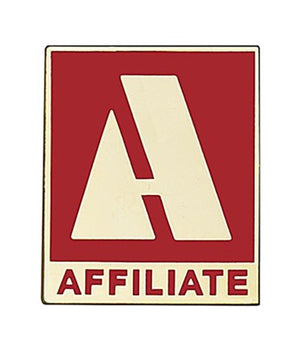 Affiliate Commercial Pin, Red