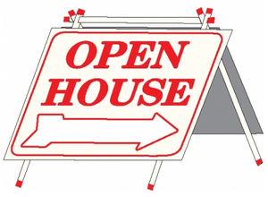 "A-Frame, 18""x24"" PVC with PVC Sign - OPEN HOUSE"