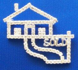 Crystal Pin - House with Path/Sold