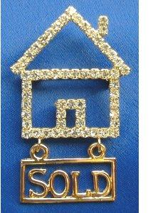 Crystal House With Hanging Sold Sign