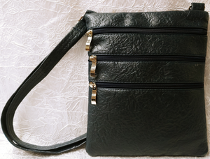 Leather Multi-Zipper Bag