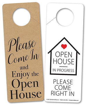 Door Hanger, OPEN HOUSE IN PROGRESS, PLEASE COME IN