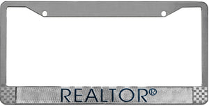 License Plate Frame, Metal-Blank with REALTOR
