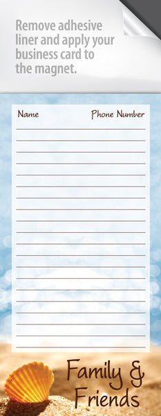 Long magnetic notepad realty supply center long magnetic notepad colourmoves
