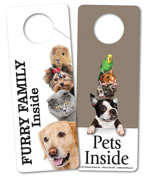 DOOR HANGER, PETS INSIDE