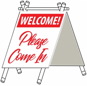 "A-Frame, 12"" x 22"", Mini PVC Sign"
