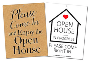 Open House in Progress Sign 8/12 x 11 Sign
