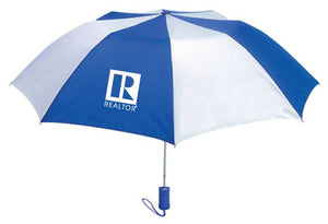 Compact Umbrella with REALTOR® Logo, Blue and White