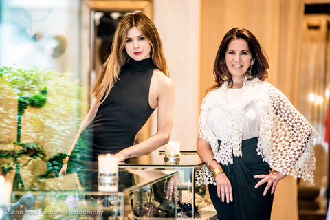 Golriz Tavakoli (left) and Joya Yadegar (right)  at their boutique Brigitte & Stone in Brentwood Gardens