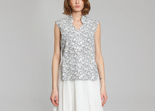 Overlap Revers Top - Grey Girls