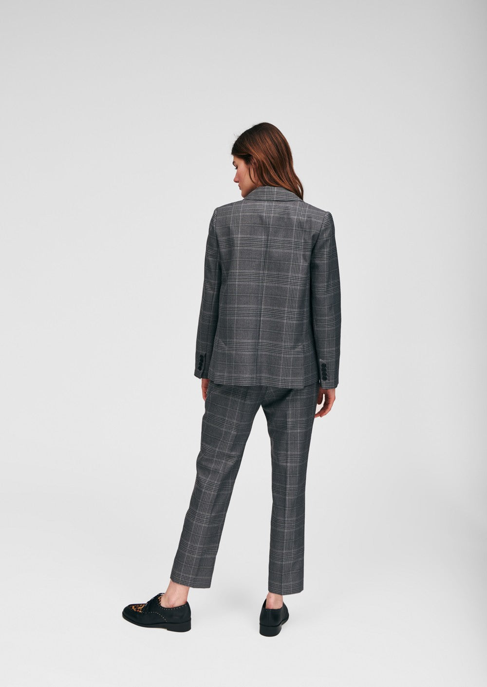 Heather Plaid Blazer
