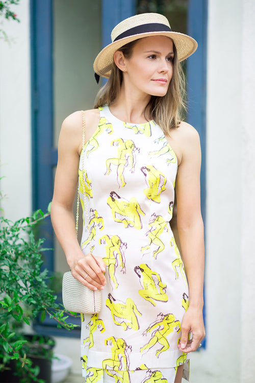 Yellow Paper Girl Dress