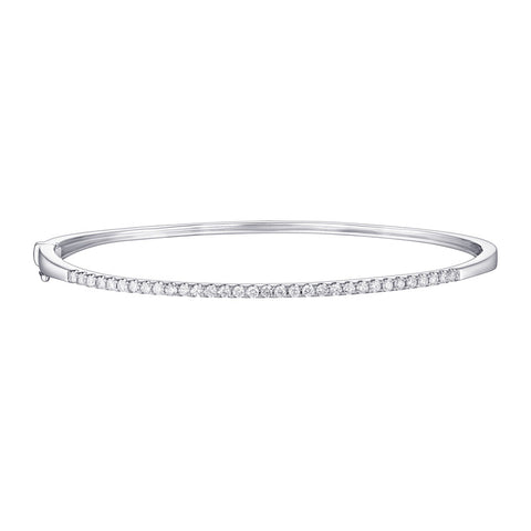 Open Back Cuff Bracelet (White Gold)