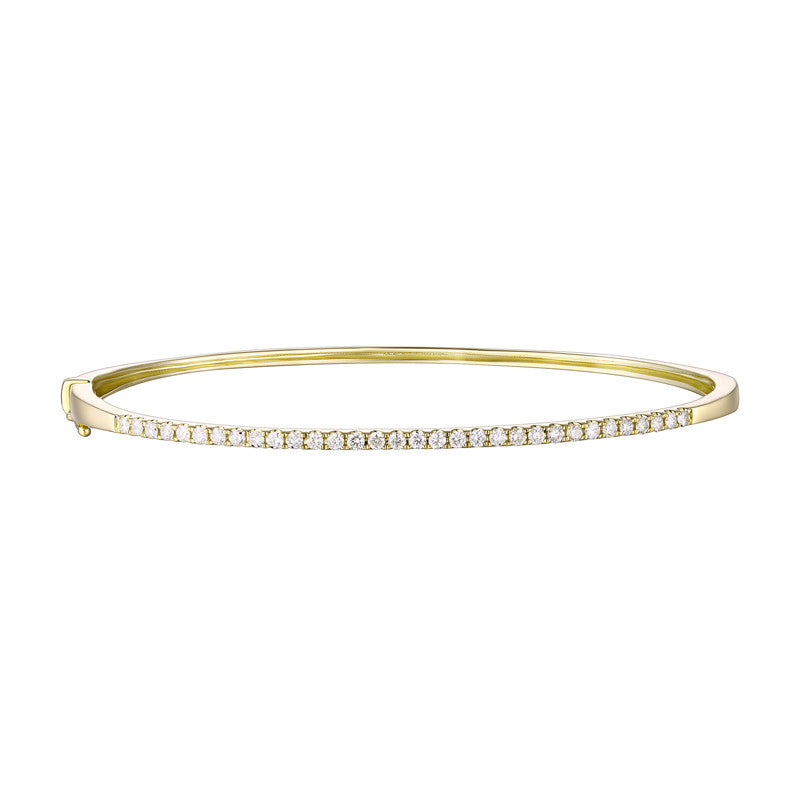 Diamond Yellow Gold Bangle