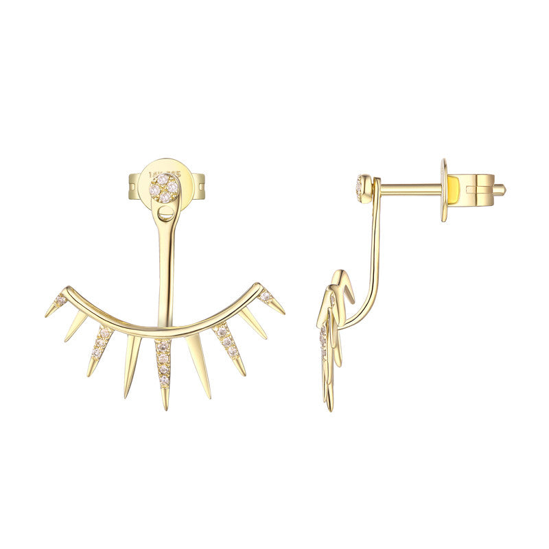 Eyelash Cuff Earrings