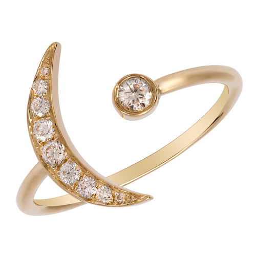Diamond Moon Ring