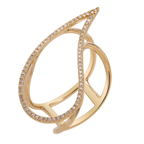 Open Back Cuff Bracelet (Yellow Gold)