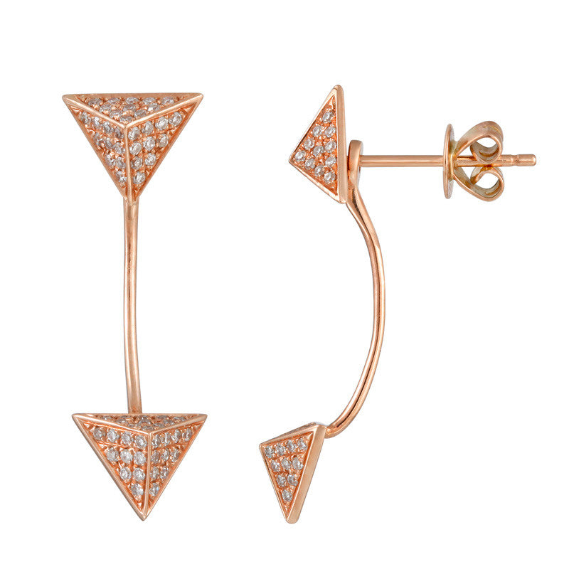 Pyramid Cuff Earrings