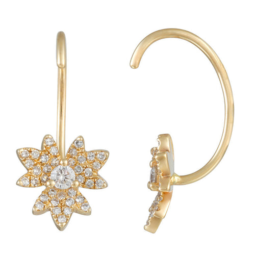 Mini Flower Diamond Earrings