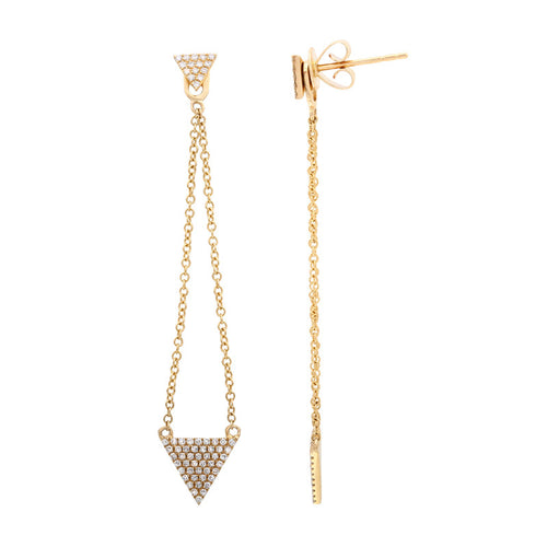 Triangle Drop Chain Earrings