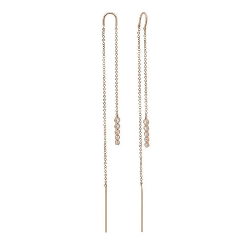Diamond Eternity Gold Hoops (Small)