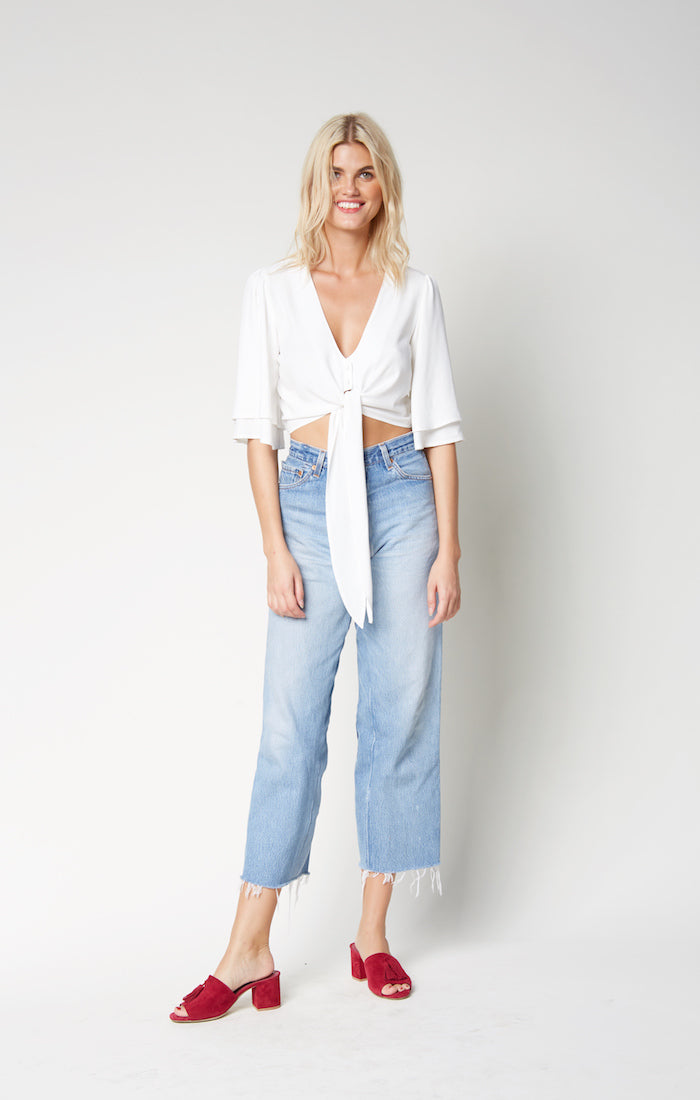 Lily Crop Top-White