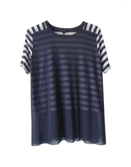 Stripped Dual Layer Top