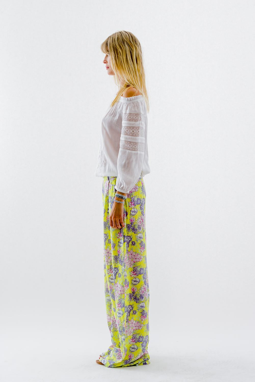 French Garden Pants-Yellow