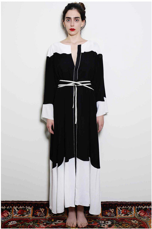 Kaftan Black/White