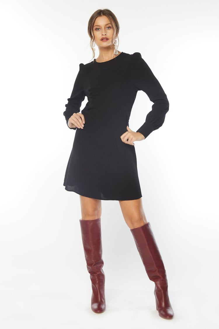 Lydia Mini Dress-Black