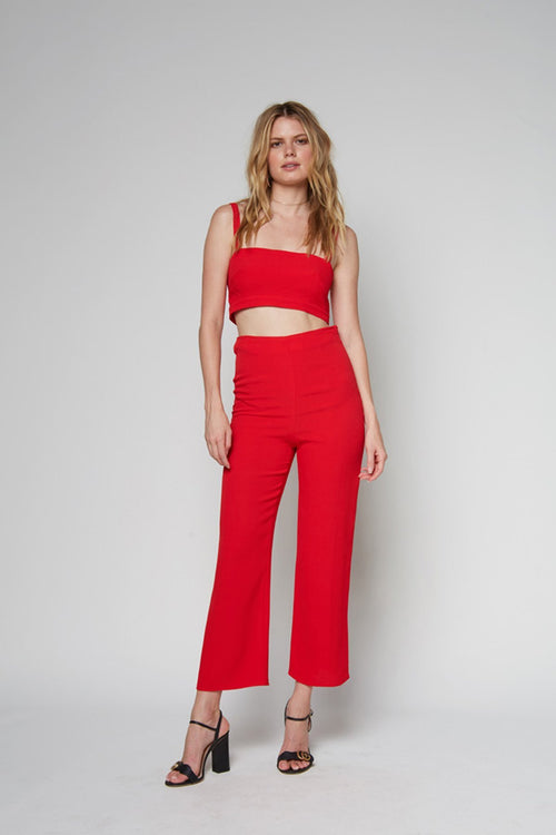 Alexis Crop Top-Red