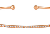 Open Back Cuff Bracelet (Rose Gold)