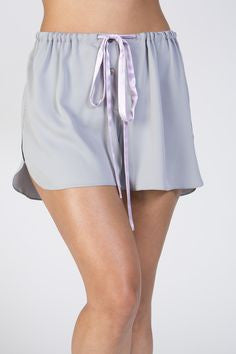Maya Silk Retro Short - Vintage Blue