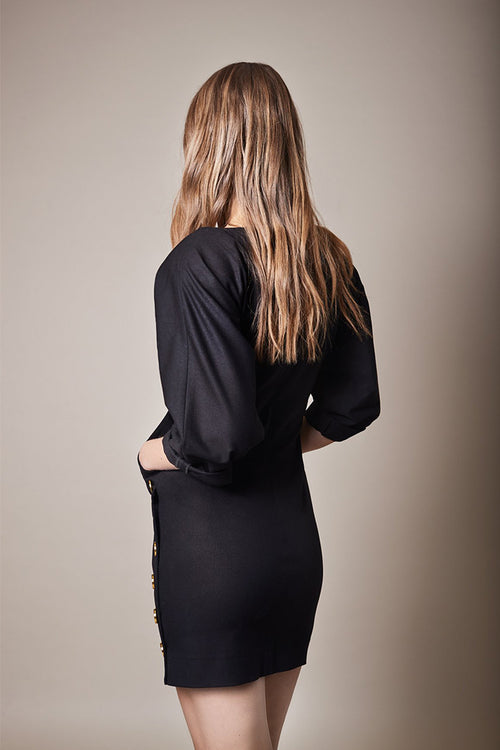 Pocket Black Dress
